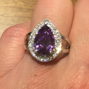 Jewelry - New Purple Cubic Zirconia 6ct Micro Pave Ring
